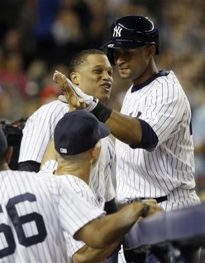 Almonte homers in 1st start, Yankees top Rays 6-2