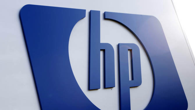 FILE - This Feb. 21, 2012 file photo shows a Hewlett Packard logo in Frisco, Texas. Hewlett-Packard said Wednesday, May 23, 2012 that it's laying off 27,000 workers, 8 percent of its work force, as it restructures the business. The Palo Alto, Calif., company said it'll save $3 billion to $3.5 billion annually from cost cuts, including the layoffs.  Hewlett-Packard Co. expects to complete the job cuts by the end of fiscal 2014.  (AP Photo/LM Otero, File)