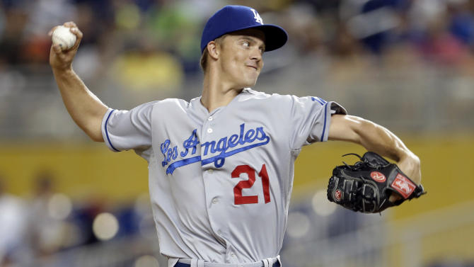 Greinke pitches Dodgers past Marlins 4-1