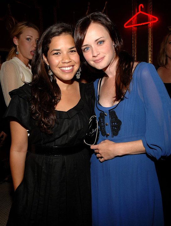 America Ferrera and Alexis Bledel at the NYLON Magazine and MySpace International Music Issue Concert Event in New York City - 06/13/2007