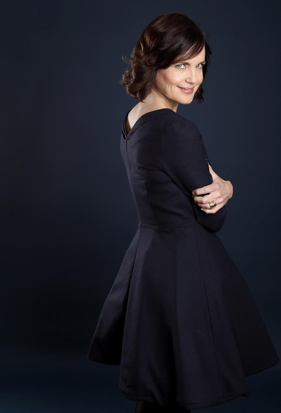 "Actress Elizabeth McGovern, from ""Downton Abbey"", poses for a portrait during the PBS TCA Press Tour on Saturday, July 21, 2012, in Beverly Hills, Calif. (Photo by Matt Sayles/Invision/AP)"