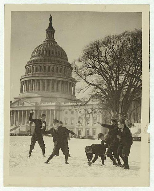 Blast From the Past: From 1889, See The Snowstorms of Washington, D.C.'s Past