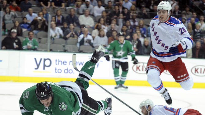 Lundqvist makes 41 saves, Rangers top Stars 3-2