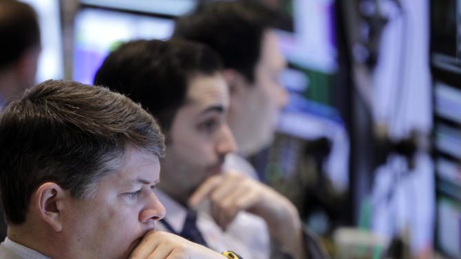 Dow breaks 13,000 but can't hold gains