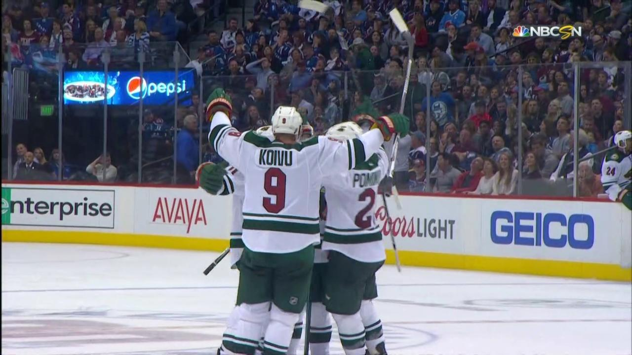 Parise scores hat trick to give Wild 5-4 lead