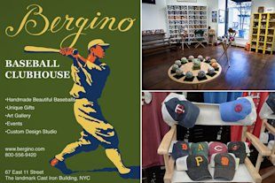 Bergino makes baseballs — beautiful baseballs.