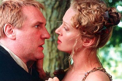 Gerard Depardieu and Uma Thurman in Miramax's Vatel