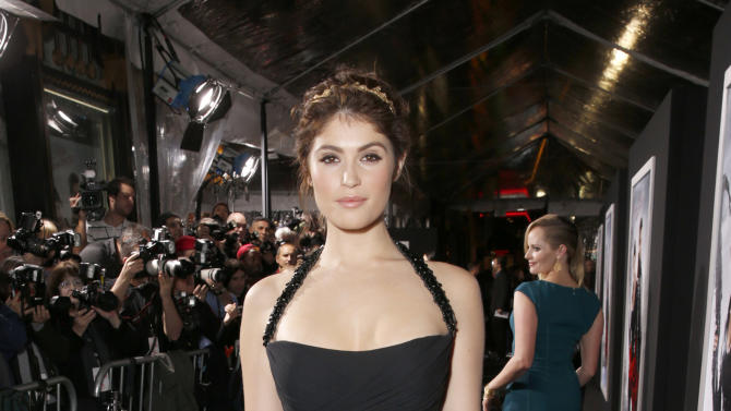 "Gemma Arterton arrives at the premiere of ""Hansel & Gretel Witch Hunters"" on Thursday Jan. 24, 2013, in Los Angeles.  (Photo by Todd Williamson/Invision/AP)"