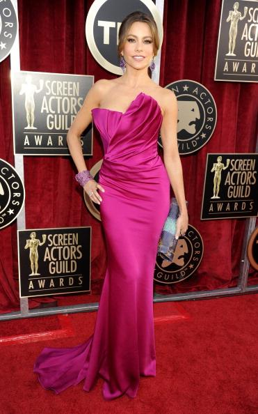 Red-pink at the SAG Awards