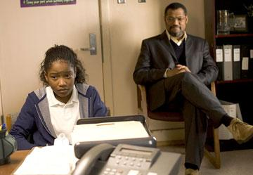 Laurence Fishburne and Keke Palmer in Lionsgate Films' Akeelah and the Bee