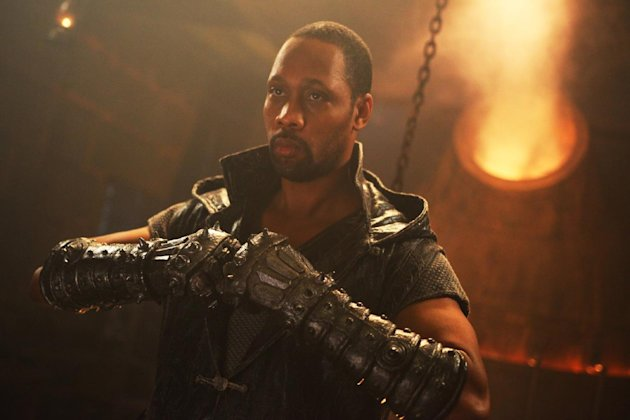 "This image released by Universal Pictures shows actor-director RZA in a scene from ""The Man With the Iron Fists."" (AP Photo/Universal Pictures)"