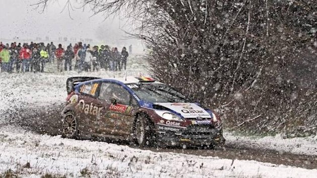 Thierry Neuville on the opening day of the Monte Carlo Rally (Imago)
