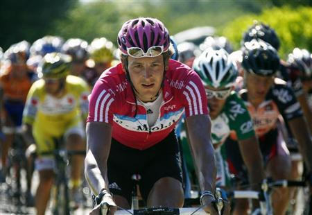 T-Mobile team rider Rogers cycles during the sixth stage of the 94th Tour de France