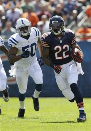 Cutler, Forte lead way, Bears beat Colts, 41-21