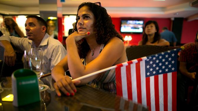 American Expats Gather To Watch Coverage Of The US Presidential Elections