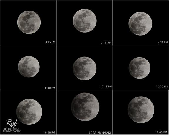 Lunar Eclipse Photos Show Earth's Shadow on Moon