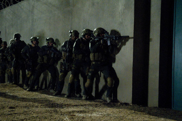 The night of the raid on Osama Bin Laden&#39;s heavily compound.