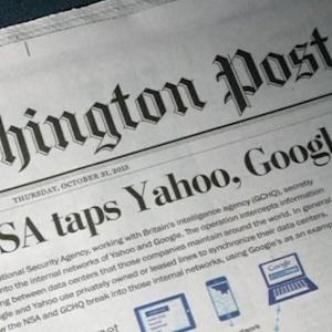 NSA intercepts Google, Yahoo traffic overseas: report
