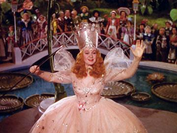 Glenda the Good Witch ( Billie Burke ) in Warner Home Entertainment's DVD release of The Wizard of Oz