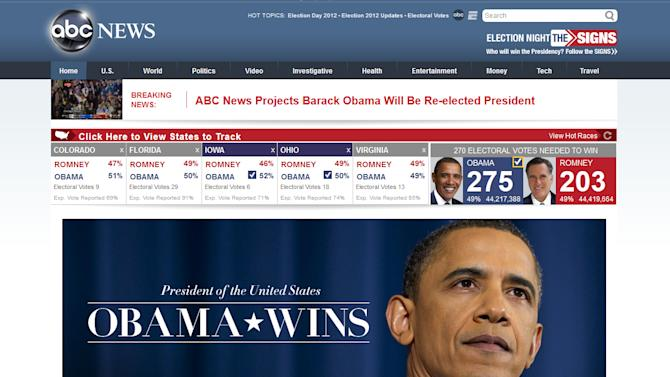 Obama's victory in the headlines
