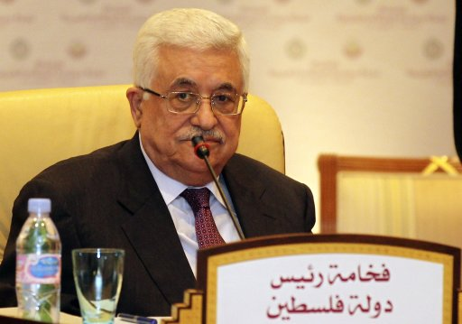 Palestinian President Mahmoud Abbas attends a meeting of the Arab Peace Initiative Committee in Doha