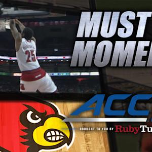 Louisville's Wayne Blackshear Throws Down Alley-Oop | ACC Must See Moment