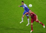 Bayern Munich's midfielder Franck Ribery (R) and Chelsea's defender Jose Bosingwa fight for the ball during the UEFA Champions League final football match at the Fussball Arena stadium in Munich