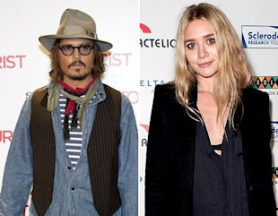 Johnny Depp y Ashley Olsen / Cine 54