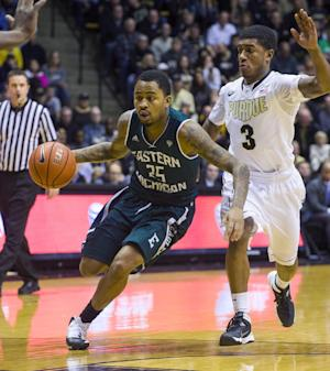 Purdue outlasts Eastern Michigan 69-64