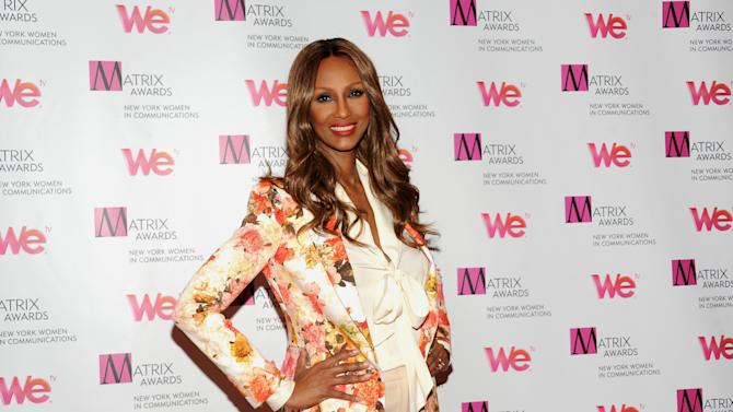 Model Iman attends the 2013 Matrix New York Women in Communications Awards at the Waldorf-Astoria Hotel on Monday April 22, 2013 in New York. (Photo by Evan Agostini/Invision/AP)