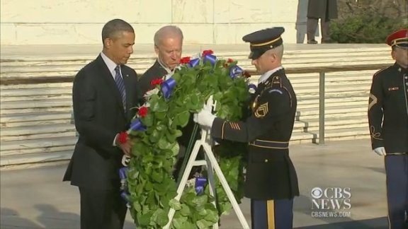 Obama, Biden lay wreath at …