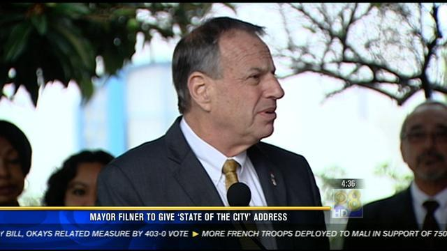 "Mayor Filner to give ""State of the City"" address"