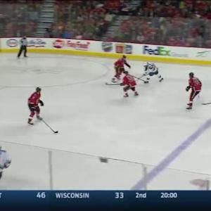 Jonas Hiller Save on Mikael Granlund (03:13/2nd)