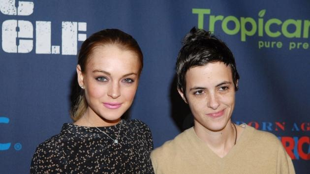 Lindsay Lohan and Samantha Ronson attend 'A New Birth of Citizenship' inaugural event presented by Declare Yourself at Renaissance Washington  -- FilmMagic