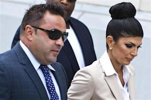 "Teresa Giudice and her husband Giuseppe ""Joe"" Giudice arrive at the federal court in Newark, New Jersey"