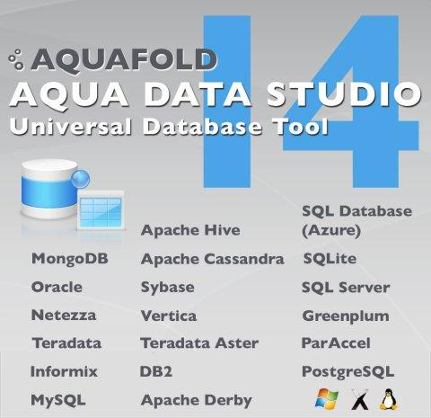 Aqua Data Studio 14 Adds Support for NoSQL Databases MongoDB and Cassandra, As Well As Hadoop-based Hive and Microsoft's Cloud Azure Database
