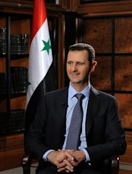 A photo dated June 28, 2012 released by the official Syrian Arab News Agency (SANA) shows President Bashar al-Assad during an interview in Damascus