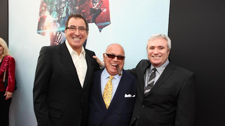 "FILE - This Oct. 27, 2009 file photo shows Director/Producer Kenny Ortega, Co-Producer Frank DiLeo and AEG's Randy Phillips at Columbia Pictures' Premiere of Michael Jackson's ""This Is It"" on October 27, 2009 at the Nokia Theatre L.A. Live in Los Angeles. Ortega told a jury on Wednesday July 10, 2013, that Michael Jackson's state six days before the singer's death frightened him, and that he saw his friend show up to at least four rehearsals in an impaired state in the final months of his life. Ortega is testying in a negligent hiring lawsuit filed by Jackson's mother against concert promoter AEG Live LLC. (Photo by Eric Charbonneau/Invision/AP Images, File)"
