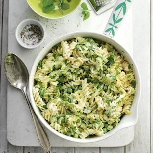 Lemon, Courgette, Mint, Pea, Fusilli: Recipe