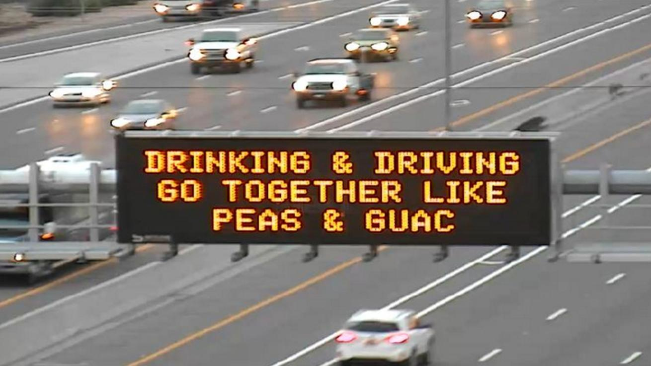 Drinking and Driving Is as Bad as Peas in Guacamole, Says DOT