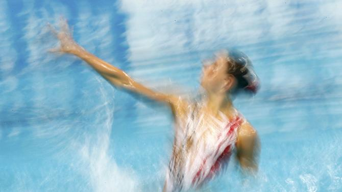 Italy's Cerruti performs in synchronised swimming solo free finals at Aquatics World Championships in Kazan