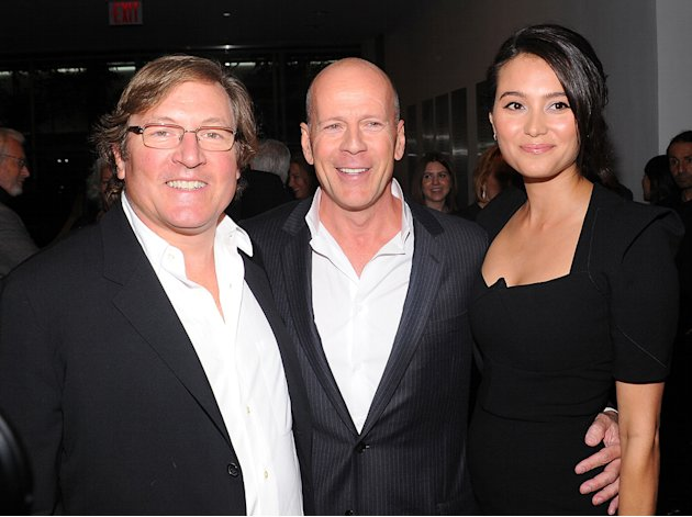 Red NYC Screening 2010 Lorenzo di Bonaventura Bruce Willis Emma Heming