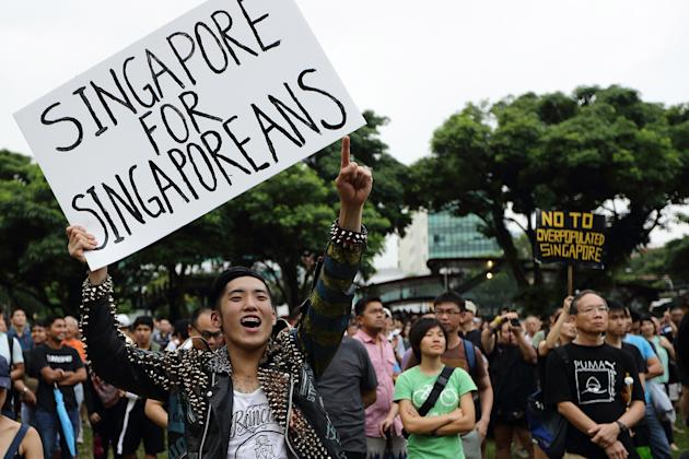 Singaporeans Protest Population Policy