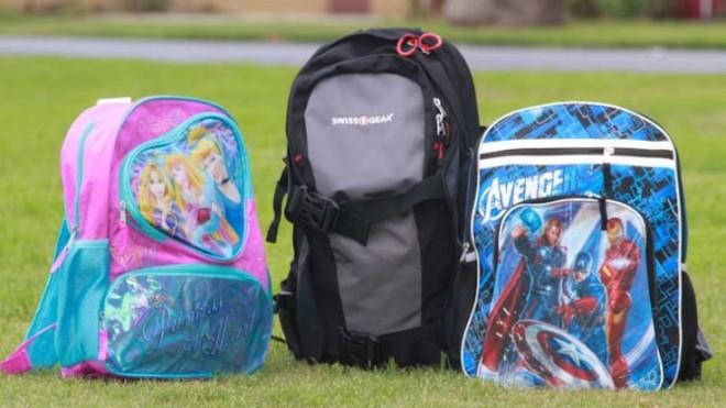 The Amendment II backpacks come in three styles to suit young girls, boys, and teens.
