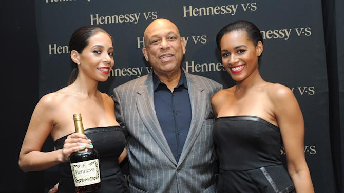 IMAGE DISTRIBUTED FOR HENNESSY V.S - Baseball Hall of Famer Orlando Cepeda poses with Hennessy brand ambassadors at the Hennessy V.S Latinos in Baseball event at the Parlor in New York, Thursday, June 27, 2013. (Photo by Diane Bondareff/Invision for Hennessy V.S/AP Images)