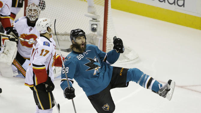 Pavelski scores twice in Sharks' 6-3 win
