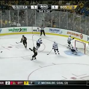 Chris Kelly Goal on Jonathan Quick (14:33/3rd)