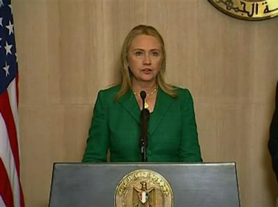 Clinton: US, Egypt broker ceasefire in Gaza