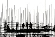 Workers are silhouetted at a construction site in Beijing. Chinese Premier Wen Jiabao has said stabilising the country&#39;s economic growth was a &quot;top priority&quot;, and authorities would encourage more investment