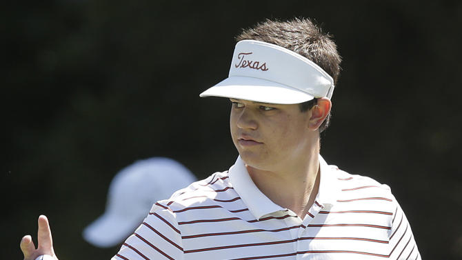 Amateur Beau Hossler waves after making a birdie on the first hole during the second round of the U.S. Open Championship golf tournament Friday, June 15, 2012, at The Olympic Club in San Francisco. (AP Photo/Charlie Riedel)